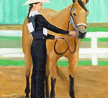 Youth Showmanship Class Quarter Horse Portrait by Oldetimemercan