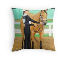 Youth Showmanship Class Quarter Horse Portrait Throw Pillow