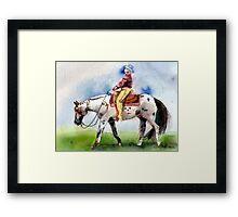 Appaloosa Western Pleasure Horse Portrait Framed Print