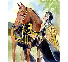 Arabian Native Costume Class Horse Portrait Photographic Print