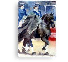 Freisian Horse Portrait Canvas Print