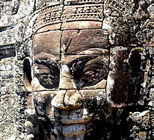 Cambodian Face of Bayon  by pjcarter