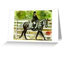 Irish Draught Horse Portrait Greeting Card