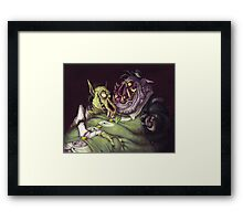 Monster Men Framed Print