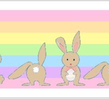 Pastel Bunny Rainbow  Sticker