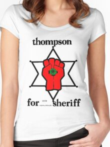 Thompson for Sheriff 2 Women's Fitted Scoop T-Shirt