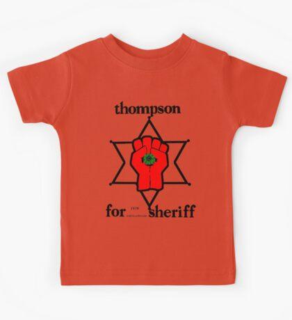 Thompson for Sheriff 2 Kids Tee