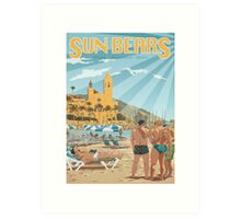 Sun Bears - Sitges, Spain Art Print