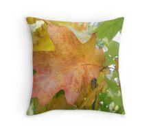 Autumnal Leaf Throw Pillow