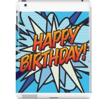 Comic Book HAPPY BIRTHDAY! blue iPad Case/Skin