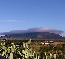 Low Morning Clouds over the Dona Ana Mountians by CynLynn