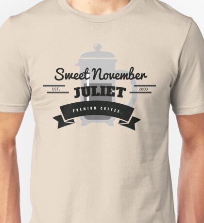 November Juliet Coffee Unisex T-Shirt