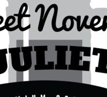 November Juliet Coffee Sticker