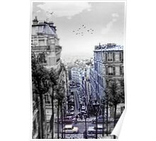 Vintage Paris From Above Poster