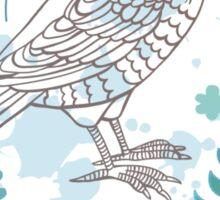Bird with flowers Sticker