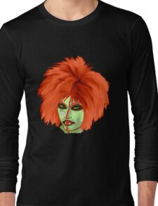 Halloween for fun--witch with orange wig  Long Sleeve T-Shirt