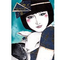 Portrait of a japanese inspired woman Photographic Print
