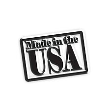 Made in the USA, Manufactured in American, America, in Black by TOM HILL - Designer