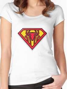 Super Spiderman Logo Women's Fitted Scoop T-Shirt