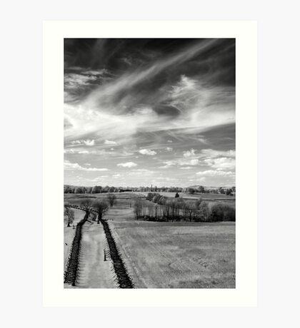 Tranquil Battlefield, Chaotic Sky Art Print