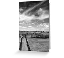 Tranquil Battlefield, Chaotic Sky Greeting Card