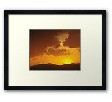 Fire Ash Sunset Framed Print