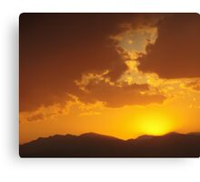 Fire Ash Sunset Canvas Print