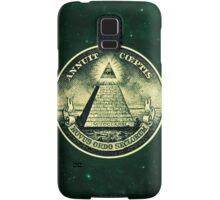 All seeing eye, pyramid, dollar, freemason, god Samsung Galaxy Case/Skin