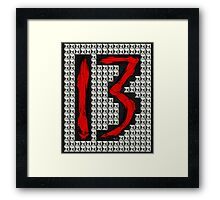 studded 13 Framed Print
