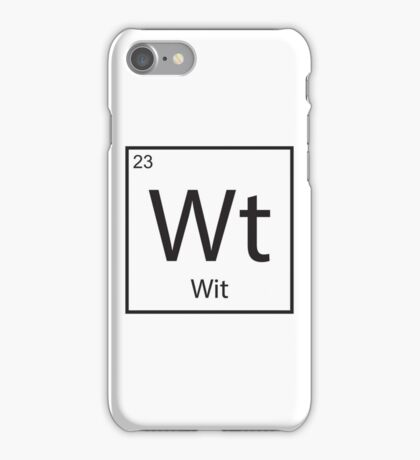 The Element of Wit iPhone Case/Skin