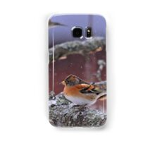 Bramblings in the snow Samsung Galaxy Case/Skin