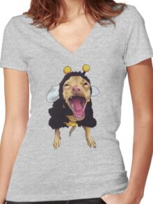 Tuna - bee costume Women's Fitted V-Neck T-Shirt