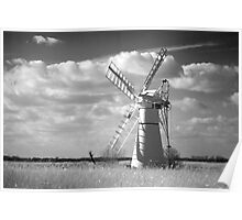 Infra red Thurne Windmill! Poster