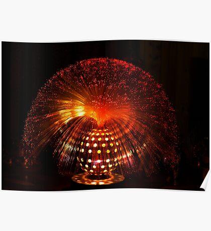 Red Fibre Optic Lamp Poster