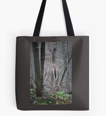 Deer Looks in Ravine Tote Bag