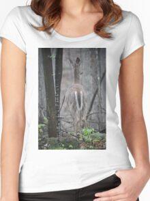 Deer Looks in Ravine Women's Fitted Scoop T-Shirt