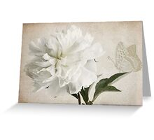 White peony whispers Greeting Card