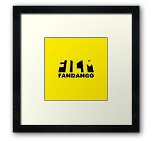 Film Fandango Logo - BLACK Framed Print