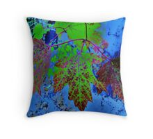 Leaves Manipulated Throw Pillow