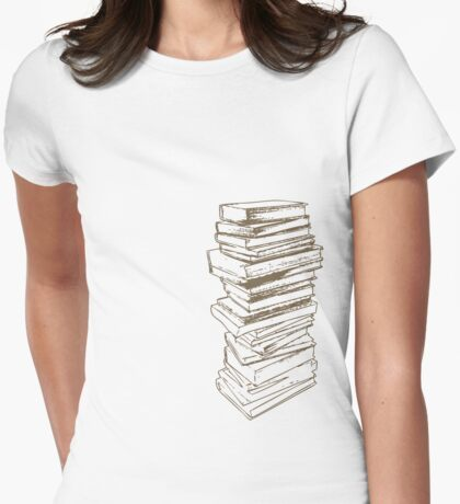 Stack of Knowledge Womens Fitted T-Shirt