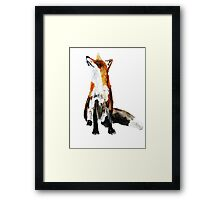 The Fox Woodland Wild Animal Acrylics Painting Framed Print