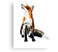 The Fox Woodland Wild Animal Acrylics Painting Canvas Print