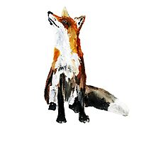 The Fox Woodland Wild Animal Acrylics Painting Photographic Print
