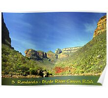 Swadini Dam & The Three Rondavels - South Africa Poster