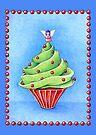 Christmas Tree Cupcake blue by Mariana Musa