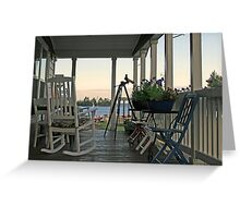 chairs on porch Greeting Card