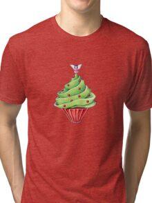 Christmas Tree Cupcake Tri-blend T-Shirt