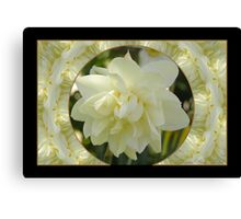 Narcissius White Medal Canvas Print