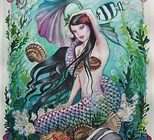 Mermaid sprite sealife, seahorse  by Gabriella  Szabo
