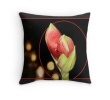 Amaryllis Bud Throw Pillow